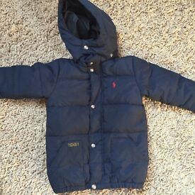 Boys Ralph Lauren coat navy age 4