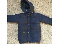 Boys Ralph Lauren coat navy age 4