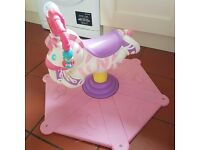 Fisher Price Bounce and Spin Zebra Pink