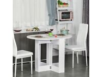 Folding Drop Leaf Dining Table Foldable Bar Table for Small Kitchen