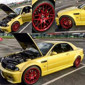 BMW M3 Convertible SMG 3.2 2003 Very rare Phoenix yellow , Soon to be a modern classic