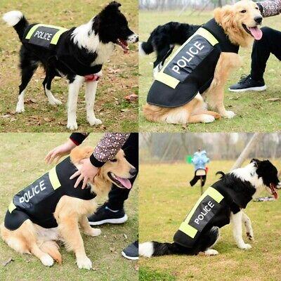 Police Dog Costume (Police Dog Pet Costume for Medium to Large Dogs Large Dog Clothes Dress Vest)