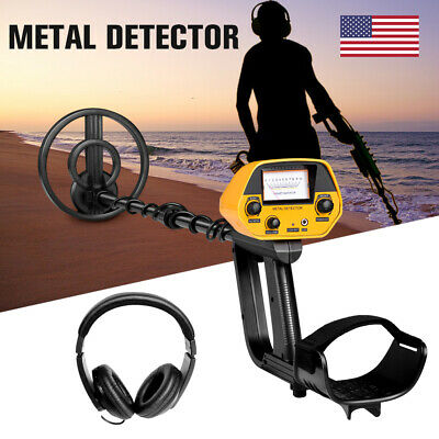 Lcd Display Metal Detector Gold Digger Hunter Deep Sensitive Waterproof Coil Usa