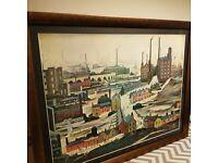 L.S Lowry- Ashton under Lyne (original print from '60s)