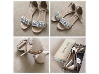 New River island diamanté sandals size 5