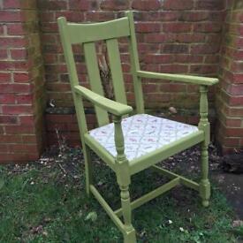 Lovely bright green studio armchair