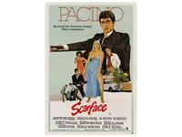 Vintage Scarface movie A4 print