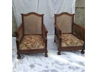 Bergere chairs and settee