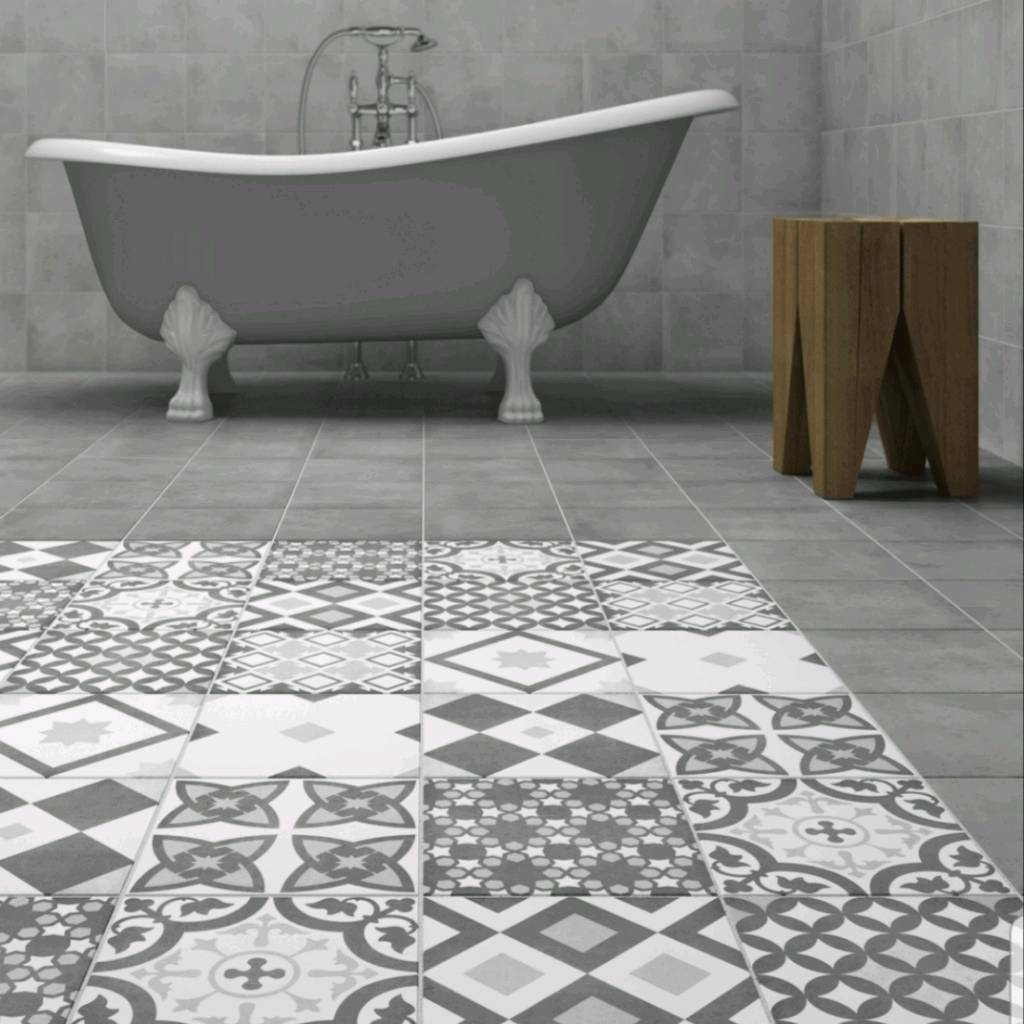 Victorian Plumbing Vibe Patterned Wall Floor Tiles In Grey M X - How many floor tiles come in a box