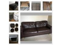 Job lot House Clearance inc couch bed oven