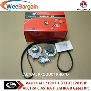 VAUXHALL VECTRA C 1.9 CDTi 120BHP Z19DT DTL GATES Timing Belt Kit and Water Pump