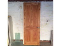 A PAIR OF SOLID PINE PANELED INTERNAL DOORS IN EXCELLENT CONDITION £12.50 EACH OR £25 THE PAIR