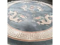 Large Oval Chinese Rug (2m by 3m)