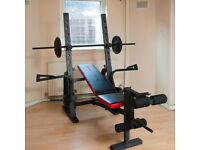 Multi Weight Bench and Weights