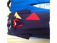 Golfing clothes including Sutherland Classic Rainwear Pringle Tartan and MatchPlay Polo Top