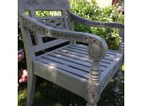 """Unique """"Bois de Luc"""" Garden Table & Chairs - Colonial Style - Teak *Delivery*"""