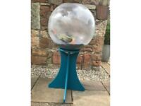 Orb fish tank on stand