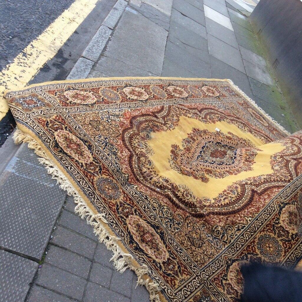 Large vintage wool rug