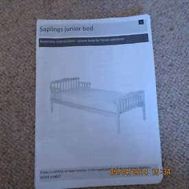 BRAND NEW SAPLINGS JUNIOR BED