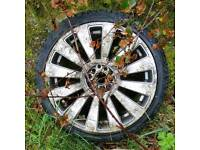 """DAMAGED 18"""" Audi A8 replica alloy - VW or Volkswagen Golf"""