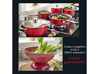 5 Piece Pan Set (Free Colander)