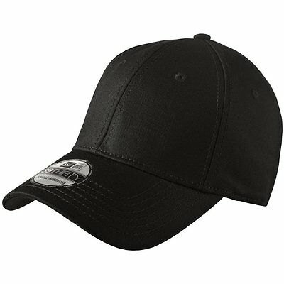 New Era 39Thirty Blank Stretch Cotton fitted BLACK Hat/Cap NE1000  Free -