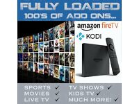 Amazon Fire TV 4KTV Box Fully,KODI 16.1, MOVIES,SPORTS,TV SHOWS, MOBDRO,SHOWBOX,STREaM Free Postage.