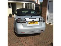 Silver Saab convertible. Lovely condition. MOT until May 2017.