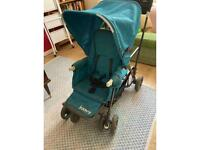 Joovy double stroller. Ultralight caboose with buggy board.