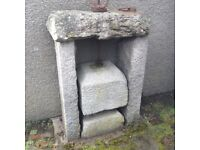 Old cheese press