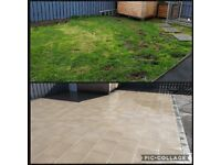 Flagging, paving, fencing, garden fence/ gates, walls and steps etc.