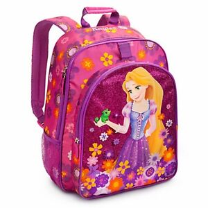 Disney Store Tangled Princess Rapunzel Pink  Backpack School Bag Tote NEW