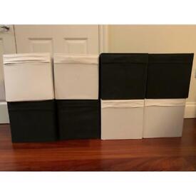 DRONA - 8 storage boxes (black and white)