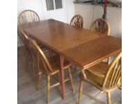 German solid oak dining table (matching dresser available)
