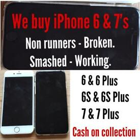 iPhones 6 & 7's wanted working or not.