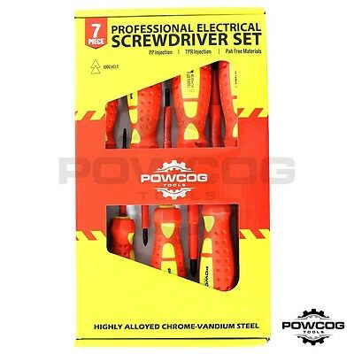 PROFESSIONAL 7 Piece Electrical Screwdriver Set | Fully Insulated 1000v EN 60900