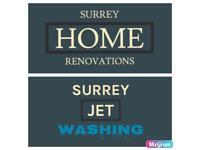 Surrey jet washing / Surrey home renovations