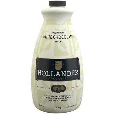 Hollander Sweet Ground White Chocolate Sauce - 64 oz Bottles