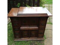 Singer sewing machine cabinet