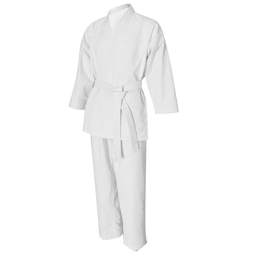 New 3/160 Martial Arts Lightweight White Student Gi .with white belt.