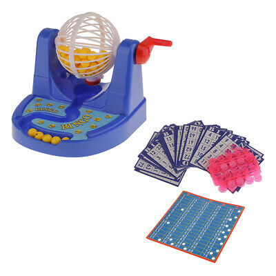 Christmas Bingo Game Cards (Traditional Plastic Bingo Machine Cage Game Set w/ Balls Card for Xmas)