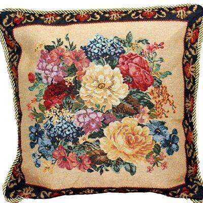 Border Bedding - DaDa Bedding Victorian Dark Border Spring Floral Throw Pillow Cushion Cover 18
