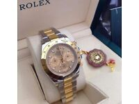2Tone ROLEX Gold bezel Gold Face Comes Rolex Bagged and Boxed with Paperwork.