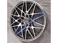 TR80* 4X NEW ALLOY WHEELS 20 INCH ALLOYS GREY POLISHED VW TRANSPORTER VOLKSWAGEN T5 T6 BBS STYLE