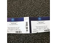 2 x seated the script tickets