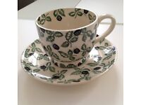 Emma Bridgewater Blackberry large cup and saucer, perfect condition
