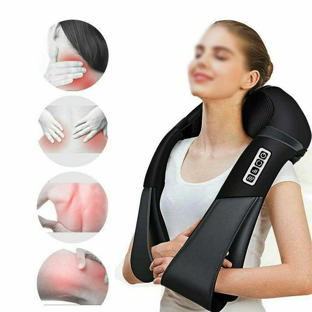 Shiatsu Massagegerät Nacken Schulter Rücken Elektrische Nackenmassagegerät Heiz