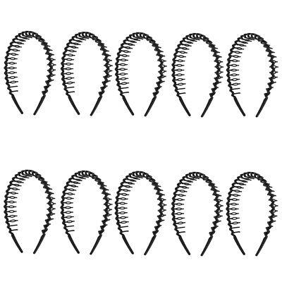 10 stücke Schwarz Bogen Stirnband Kamm Zähne Headwear Mädchen Haar DIY