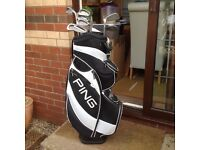 Ping bag and clubs