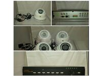 CCTV camera system comes with recorder and 4 dome cams!!!for Indoor and outdoor use!!!